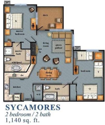 2 Bedroom Condo at Smuggler's Notch, VT