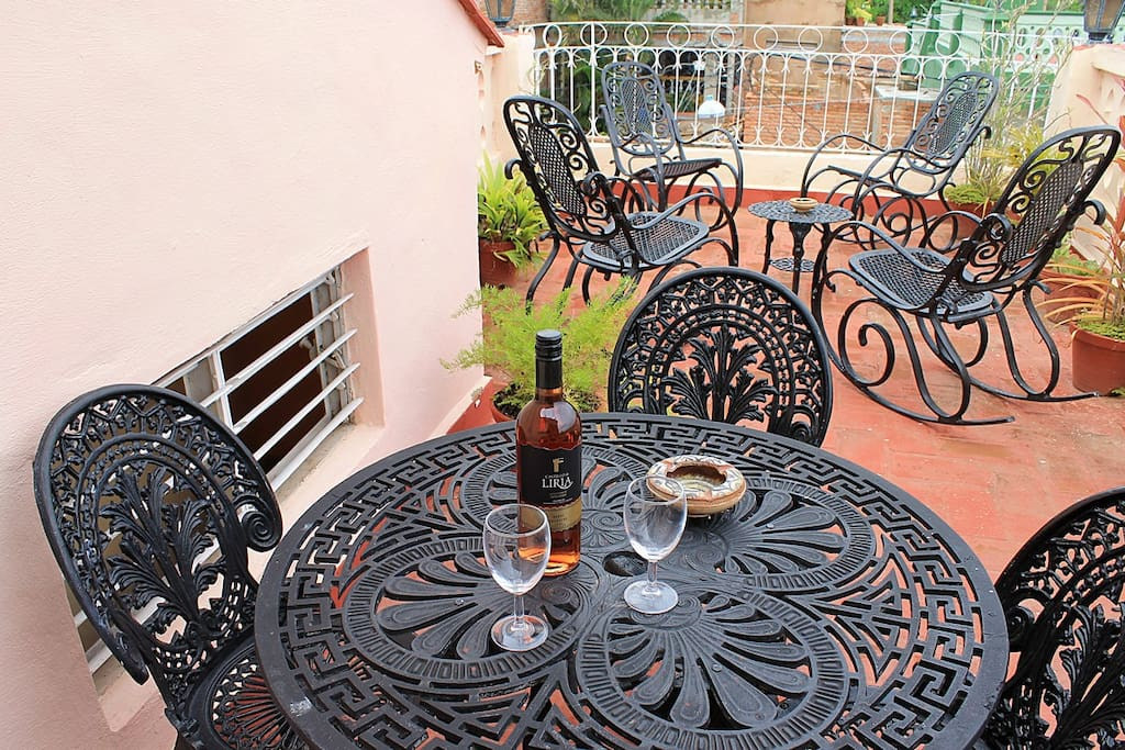 Terraza de la casa