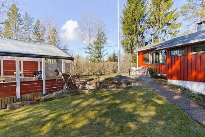 Hytte med boligstandard og stor solrik tomt