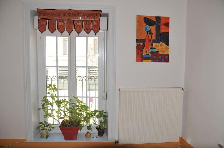 Chambre privée  avec balcon centre ville