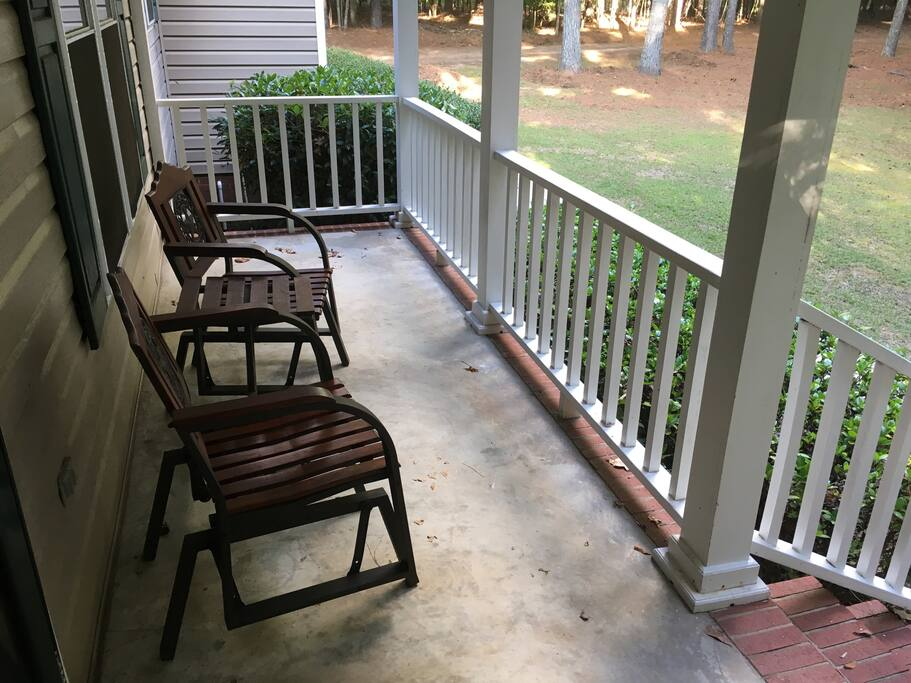 Front porch with individual rockers