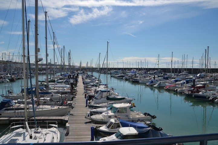 Waterside views of Brighton Marina