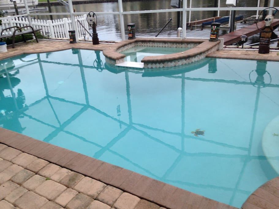 Beautiful pool overlooking north channel