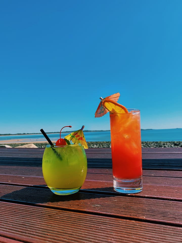 Enjoy the scenery while you sip a cold cocktail