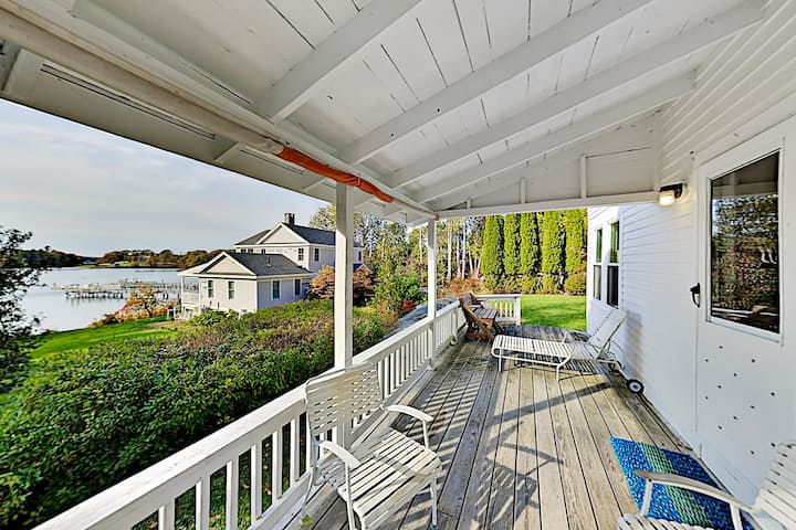 Classic Home on Hogdon Cove with Water-View Deck