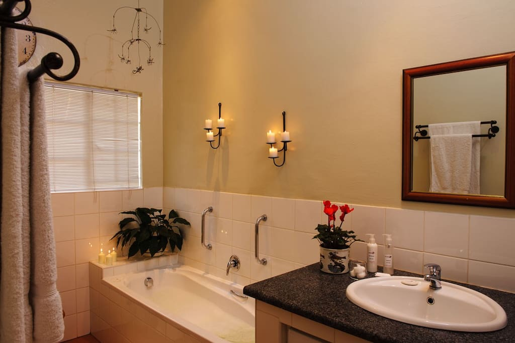 Bathroom with shower or enjoy a  bath by candle light