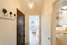 The aisle | the kitchen on the right