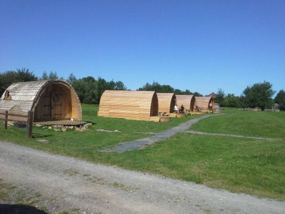Our Glamping Pods at Wall Eden farm set in 7 acres