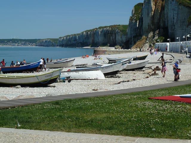Maison de pêcheur 350 m de la plage. Parking privé - Yport - Ház