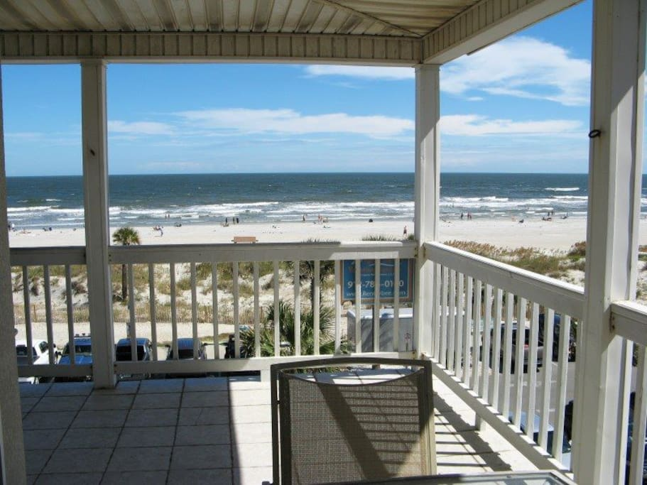 Enjoy the Panoramic View of Tybee Beach and the Atlantic Ocean from your Large and Private Wrap-Around Balcony