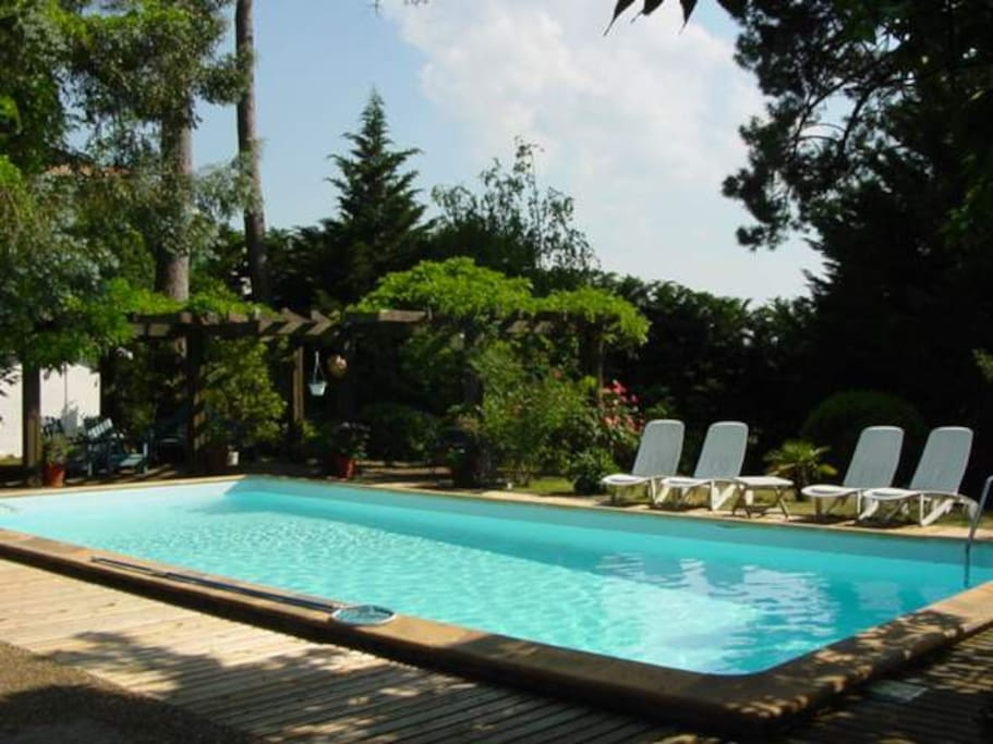 Villa pilat piscine et plage pied villas for rent in for Piscine la teste