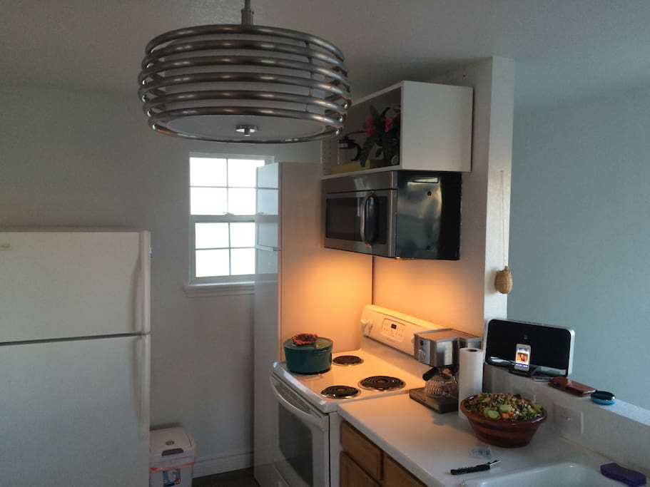 Kitchen is fully furnished