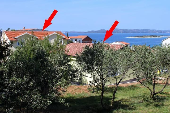 Two bedroom apartment with terrace and sea view Drage, Biograd (A-5904-d) - Drage - Flat
