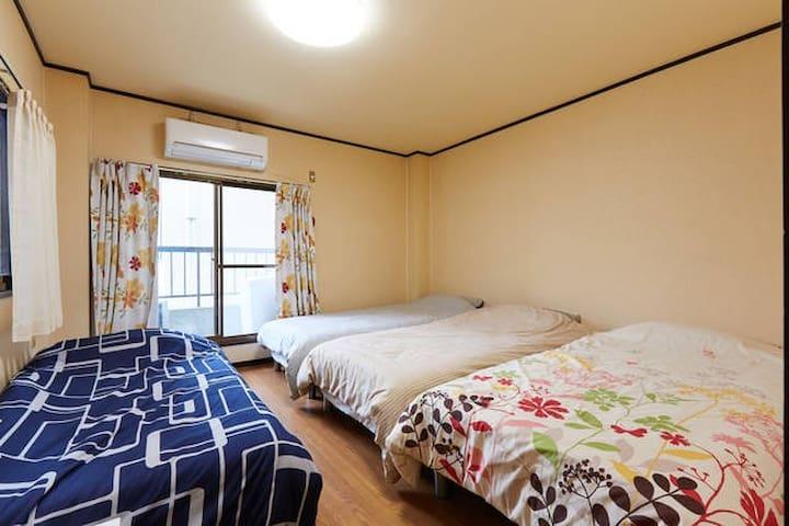 3min to sta. 3 units in one apartment Free wifi - Ōsaka-shi - Appartamento