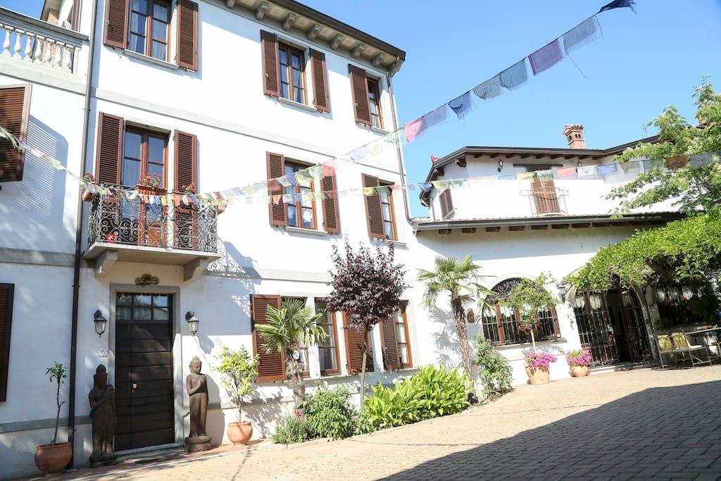 cortile interno della Villa Belvedere