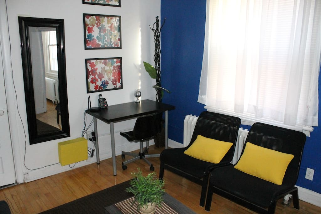 Living Space with Desk