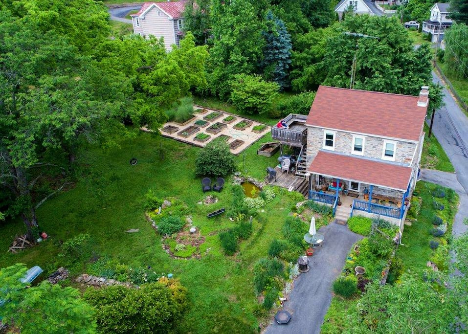 Aerial view of our property.