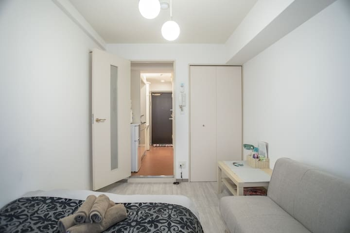 ☆No Charge★Private Room in Dotonbori★WIFI+2-3PPL☆ - Chūō-ku, Ōsaka-shi - Apartamento