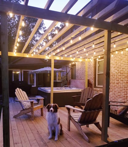 Recently Extended Deck With Pergola