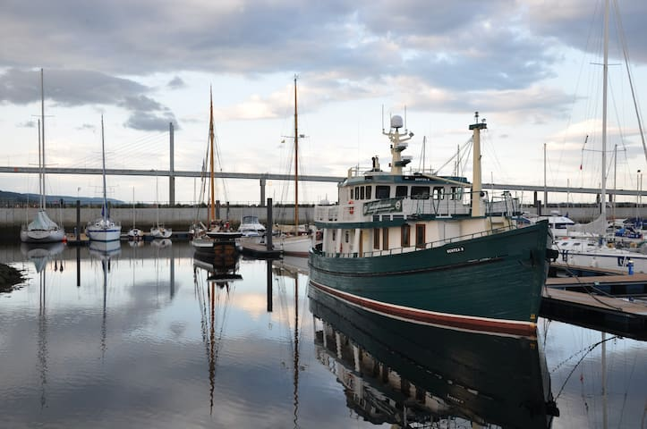 Urquhart Cabin on Luxury Trawler Yacht, Loch Ness