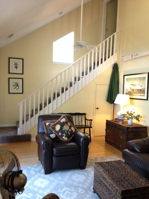 living room& steps to upstairs