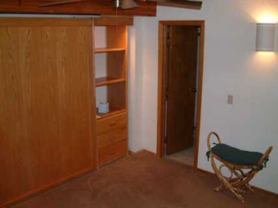 A very comfy queen size murphy bed