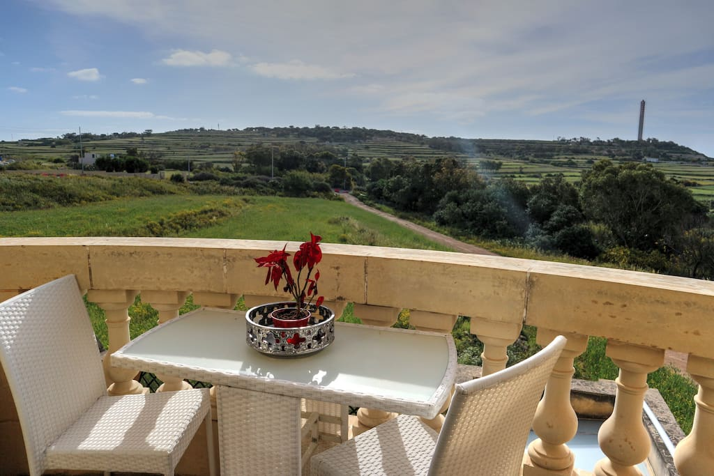 Balcony with excellent views, from the living area
