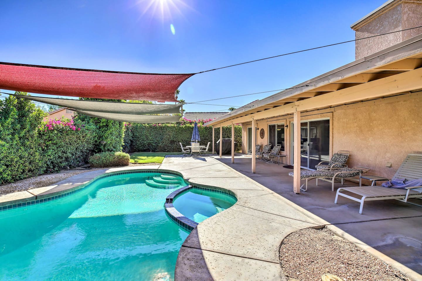 Sunshine and good times await at this 3-bedroom, 2-bath house in La Quinta!