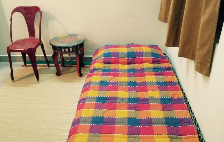 Comfy bedroom in our home - Bengaluru - Apartment