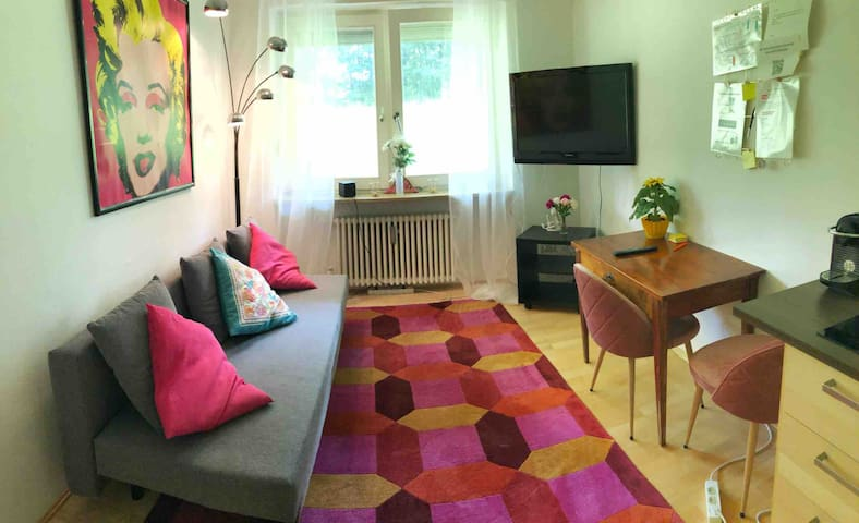 Cozy apartment next to english garden free parking