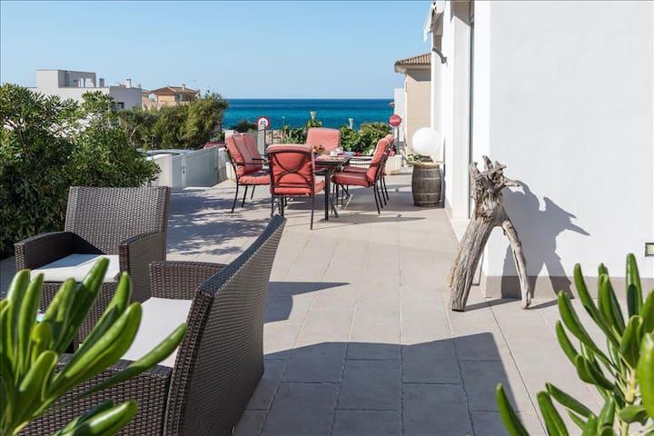Terrace and sea