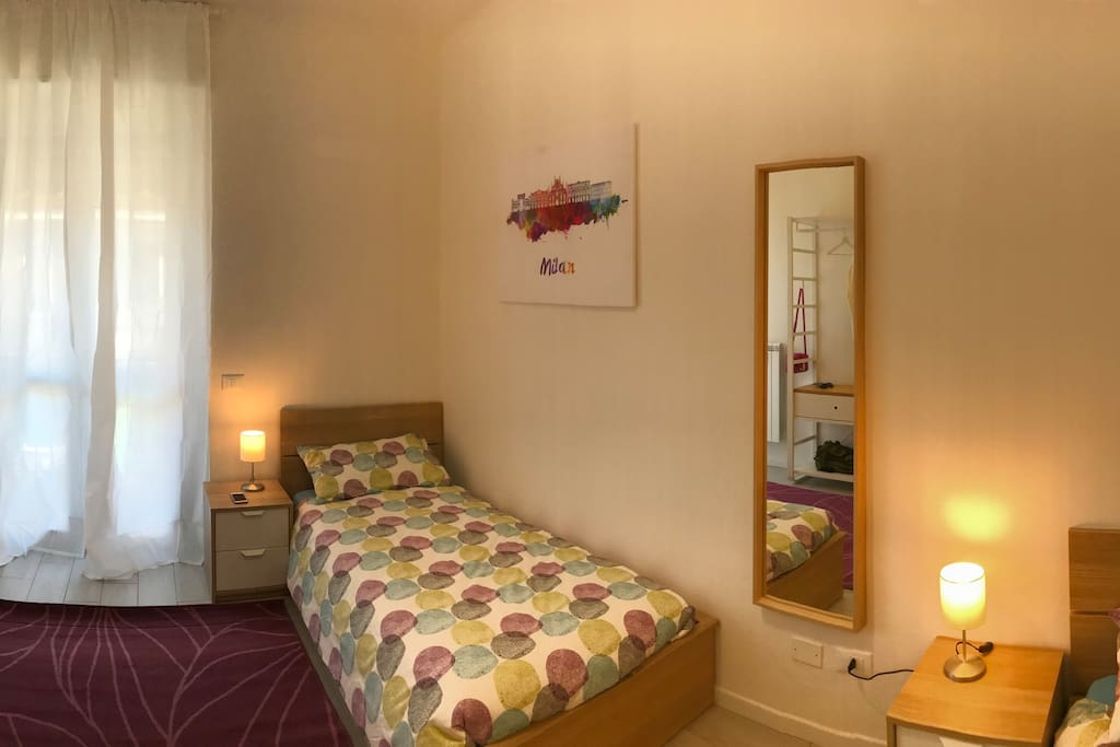 Double room with single beds.