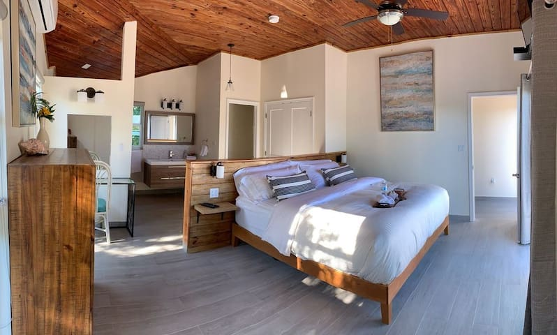Large Master Suite with private toilet room and large double closet