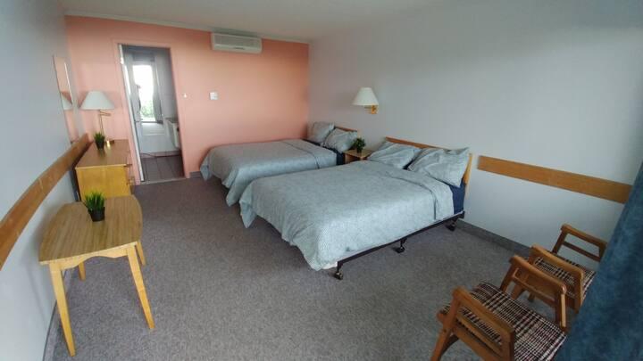 2 lits doubles, vue sur le fleuve, SDB privée, #53