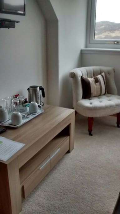 Tea tray and sitting area