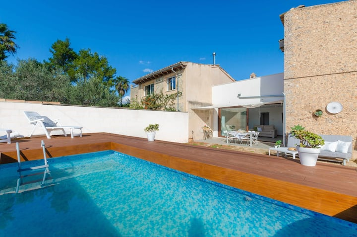 YourHouse Foravila, villa with pool, WiFi and AC for 6 people