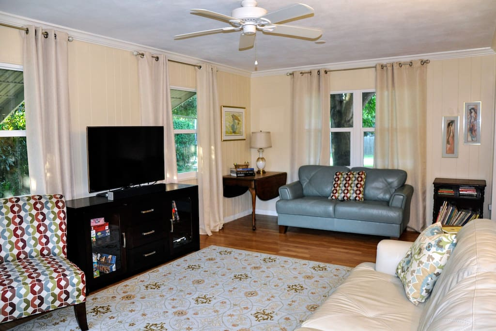 """Family Room with 46"""" TV"""