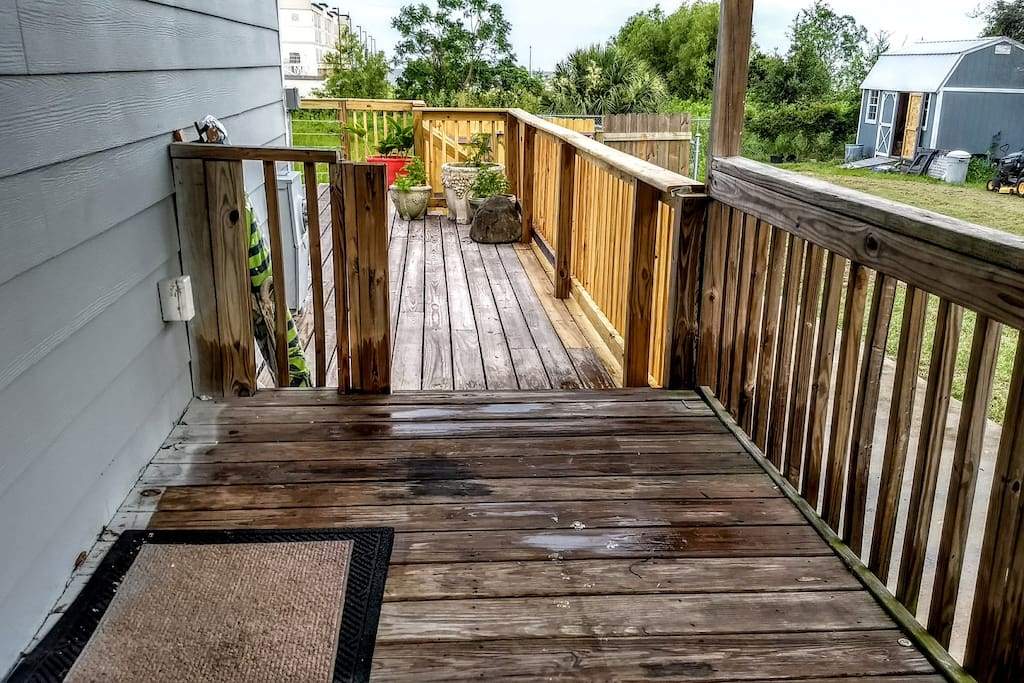 Deck access from house