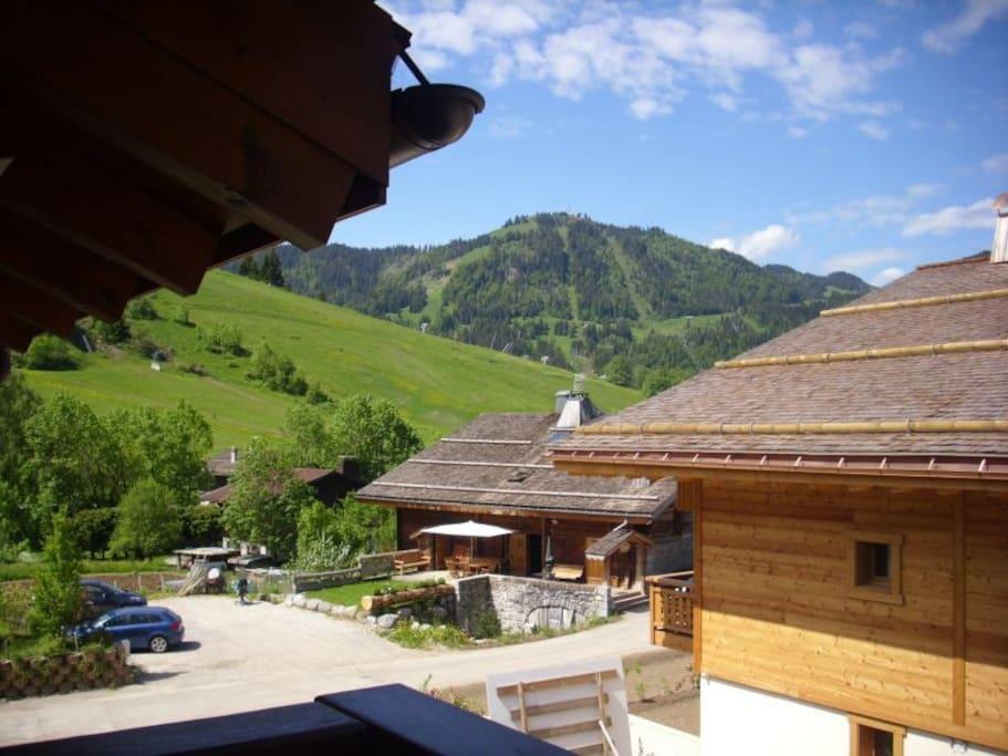 Vue depuis le balcon couvert