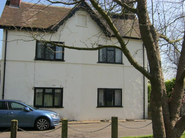 """Whicketty Cottage"" in the centre of the village."