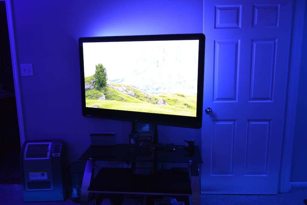 """52"""" TV in Master Br with Fire TV and PC connected"""