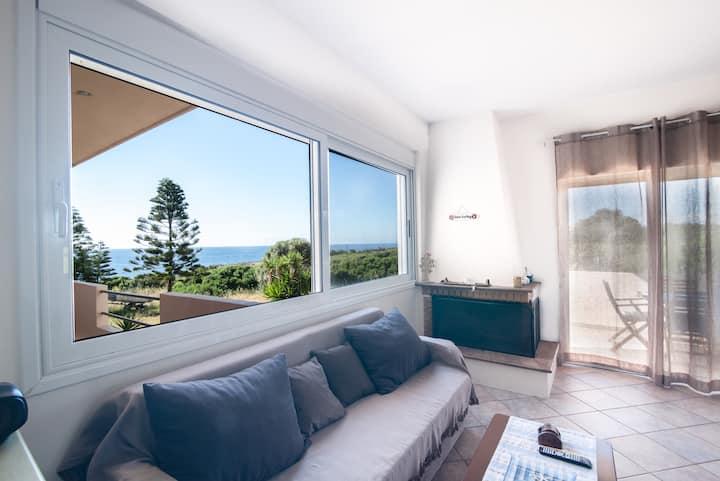 Naiada Stomio seafront apartment with view