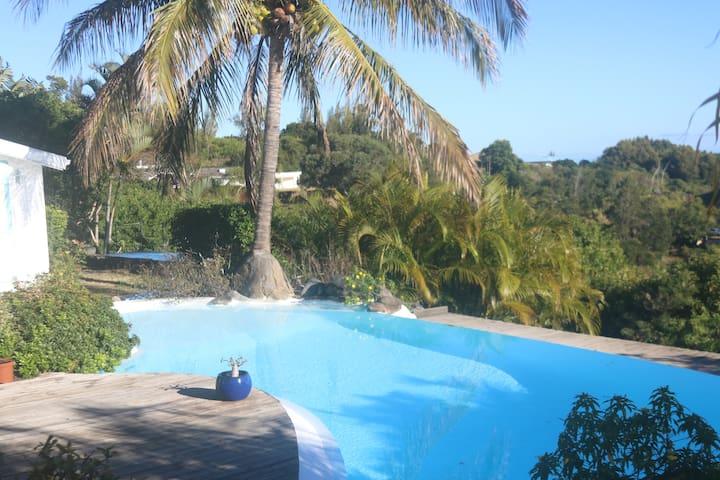 Maison avec piscine et vue sur l'océan. - La Montagne - Hus