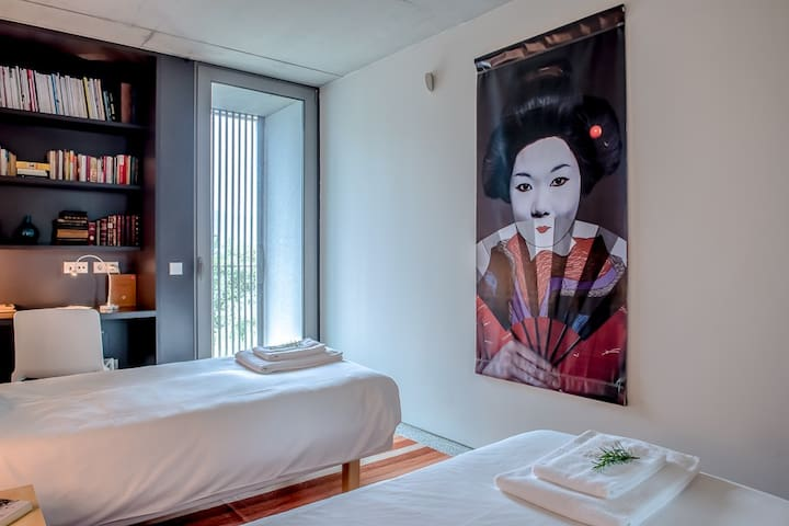 Suite Twin 2 - Todas as suites tem acesso ao exterior.