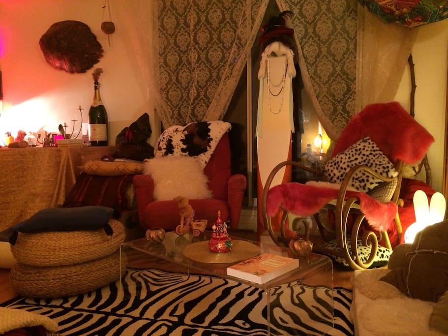 Cosy living room area