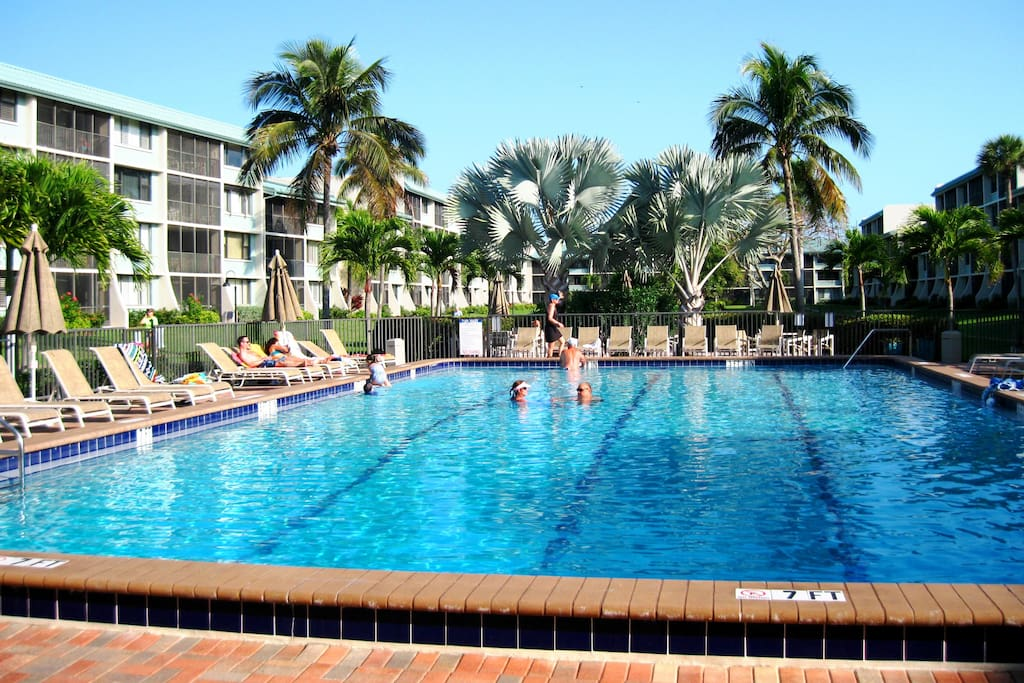 Loggerhead Cay's large new pool is popular with everyone.