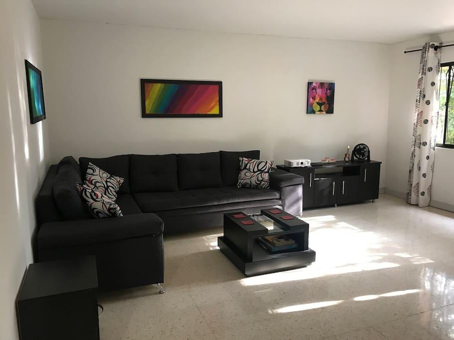 Living room below your room. Common area