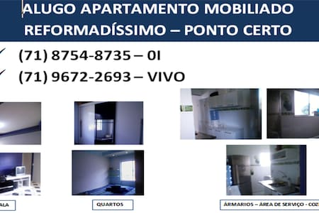 Apartamento mobília completa em Camaçari.