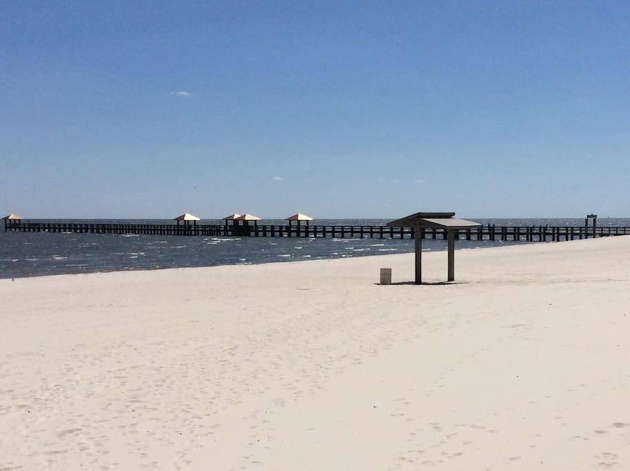 """Gulfport Fishing Pier"" Two Blocks From ""Gulfport Breeze"""