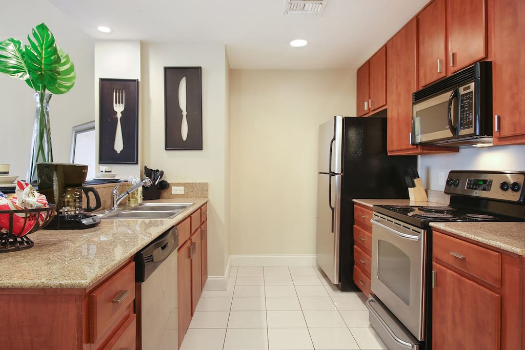 Open Fully-equipped Kitchen